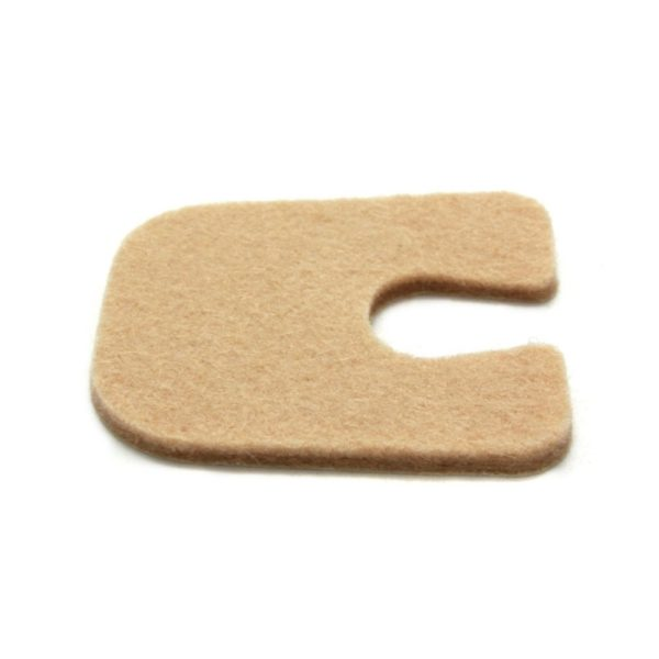 U Shaped Foot Pad Felt 1/8 inch - 100 package 2