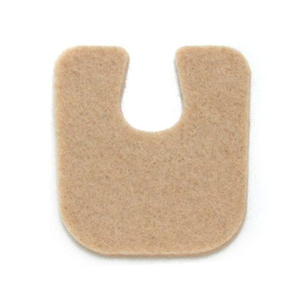 U Shaped Foot Pad Felt 1/8 inch - 100 package 1